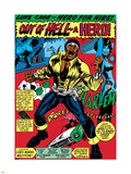 Marvel Comics Retro: Luke Cage, Hero for Hire Comic Panel, Screaming Plastic Sign