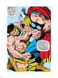 Marvel Comics Retro: Mighty Thor Comic Panel, Hercules Plastic Sign