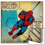 Marvel Comics Retro: The Amazing Spider-Man Comic Panel (aged) Prints