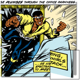 Marvel Comics Retro: Luke Cage, Hero for Hire Comic Panel Print