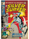 Marvel Comics Retro: Silver Surfer Comic Book Cover No.7 (aged) Art