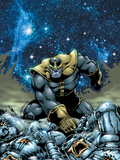 Thanos No.4 Cover: Thanos Plastic Sign by Jim Starlin