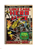 Marvel Comics Retro: Luke Cage, Hero for Hire Comic Book Cover No.2, Smashing Wall (aged) Plastic Sign