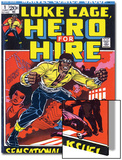 Marvel Comics Retro: Luke Cage, Hero for Hire Comic Book Cover No.1, Origin Print