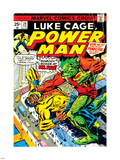Marvel Comics Retro: Luke Cage, Power Man Comic Book Cover No.29, Fighting Mr. Fish Plastic Sign