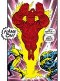 Marvel Comics Retro: Fantastic Four Comic Panel, Thing, Mr. Fantastic, Human Torch Prints