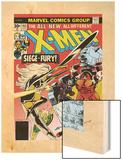 Marvel Comics Retro: The X-Men Comic Book Cover No.103, Storm, Nightcrawler, Banshee & Juggernaut Wood Print