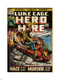 Marvel Comics Retro: Luke Cage, Hero for Hire Comic Book Cover No.3, Mace in Helicopter (aged) Plastic Sign