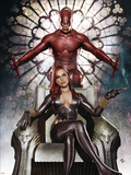 Black Widow: Deadly Origins No.3 Cover: Invisible Woman and Daredevil Plastic Sign by Niko Henrichon