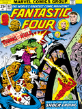 Marvel Comics Retro: Fantastic Four Family Comic Book Cover No.167, Thing and the Hulk Print