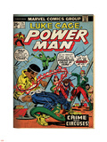 Marvel Comics Retro: Luke Cage, Hero for Hire Comic Book Cover No.25, Crime and Circus (aged) Plastic Sign