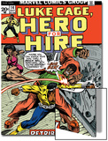 Marvel Comics Retro: Luke Cage, Hero for Hire Comic Book Cover No.14, Fighting Big Ben Prints