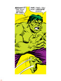 Marvel Comics Retro: The Incredible Hulk Comic Panel Plastic Sign