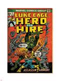 Marvel Comics Retro: Luke Cage, Hero for Hire Comic Book Cover No.6, Assassin in Armor! (aged) Plastic Sign