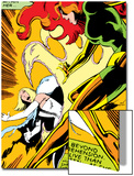 Marvel Comics Retro: X-Men Comic Panel, Phoenix, Emma Frost, Fighting Posters