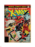 Marvel Comics Retro: The X-Men Comic Book Cover No.103 with Storm, Nightcrawler, Banshee(aged) Plastic Sign