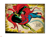 Marvel Comics Retro: The Amazing Spider-Man Comic Panel, Medusa (aged) Plastic Sign