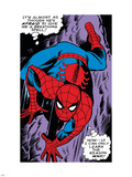 Marvel Comics Retro: The Amazing Spider-Man Comic Panel, Crawling Plastic Sign