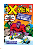 Marvel Comics Retro: The X-Men Comic Book Cover No.4, Scarlet Witch, Quicksilver, Toad, Magneto Wall Decal