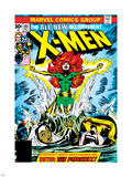 Marvel Comics Retro: The X-Men Comic Book Cover No.101, Phoenix, Storm, Nightcrawler, Cyclops Plastic Sign