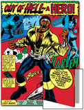 Marvel Comics Retro: Luke Cage, Hero for Hire Comic Panel, Screaming Posters
