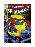 Marvel Comics Retro: The Amazing Spider-Man Comic Book Cover No.70, Wanted! Plastic Sign