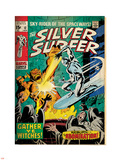 Marvel Comics Retro: Silver Surfer Comic Book Cover No.12, Fighting the Abomination (aged) Plastic Sign