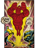 Marvel Comics Retro: Fantastic Four Comic Panel, Thing, Mr. Fantastic, Human Torch (aged) Posters