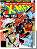 Marvel Comics Retro: The X-Men Comic Book Cover No.103, Storm, Nightcrawler, Banshee & Juggernaut Print
