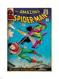 Marvel Comics Retro: The Amazing Spider-Man Comic Book Cover No.39, Green Goblin (aged) Plastic Sign