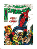 Marvel Comics Retro: The Amazing Spider-Man Comic Book Cover No.68, Crisis on Campus Plastic Sign