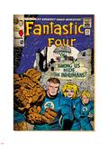 Marvel Comics Retro: Fantastic Four Family Comic Book Cover No.45 (aged) Plastic Sign
