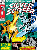 Marvel Comics Retro: Silver Surfer Comic Book Cover No.12, Fighting the Abomination Prints