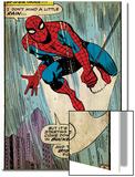 Marvel Comics Retro: The Amazing Spider-Man Comic Panel (aged) Print