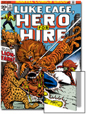 Marvel Comics Retro: Luke Cage, Hero for Hire Comic Book Cover No.13, Fighting Lion-fang, Wild Cats Art