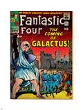 Marvel Comics Retro: Fantastic Four Family Comic Book Cover No.48, The Coming of Galactus (aged) Plastic Sign