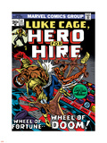 Marvel Comics Retro: Luke Cage, Hero for Hire Comic Book Cover No.11, Wheel of Fortune and Doom Plastic Sign