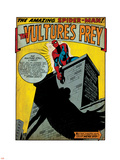 Marvel Comics Retro: The Amazing Spider-Man Comic Panel, the Vulture's Prey (aged) Plastic Sign