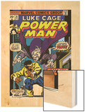 Marvel Comics Retro: Luke Cage, Hero for Hire Comic Book Cover No.26, the Night Shocker! Wood Print
