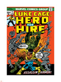 Marvel Comics Retro: Luke Cage, Hero for Hire Comic Book Cover No.6, Assassin in Armor! Plastic Sign