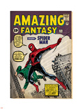 Marvel Comics Retro: Amazing Fantasy Comic Book Cover No.15, Introducing Spider Man (aged) Wall Decal