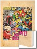 Marvel Comics Retro: X-Men Comic Panel Wood Print