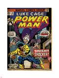 Marvel Comics Retro: Luke Cage, Hero for Hire Comic Book Cover No.26, the Night Shocker! (aged) Plastic Sign