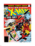 Marvel Comics Retro: The X-Men Comic Book Cover No.103, Storm, Nightcrawler, Banshee & Juggernaut Plastic Sign