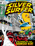 Marvel Comics Retro: Silver Surfer Comic Book Cover No.13 Print