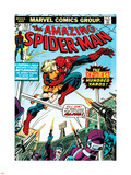 Marvel Comics Retro: The Amazing Spider-Man Comic Book Cover No.153, The Deadliest Hundred Yards Plastic Sign