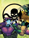 New Thunderbolts No.4 Cover: Wolverine and Swordsman Plastic Sign