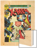 Marvel Comics Retro: The X-Men Comic Book Cover No.100, Professor X Wood Print
