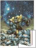 Thanos No.4 Cover: Thanos Wood Print by Jim Starlin