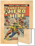 Marvel Comics Retro: Luke Cage, Hero for Hire Comic Book Cover No.14, Fighting Big Ben Wood Print